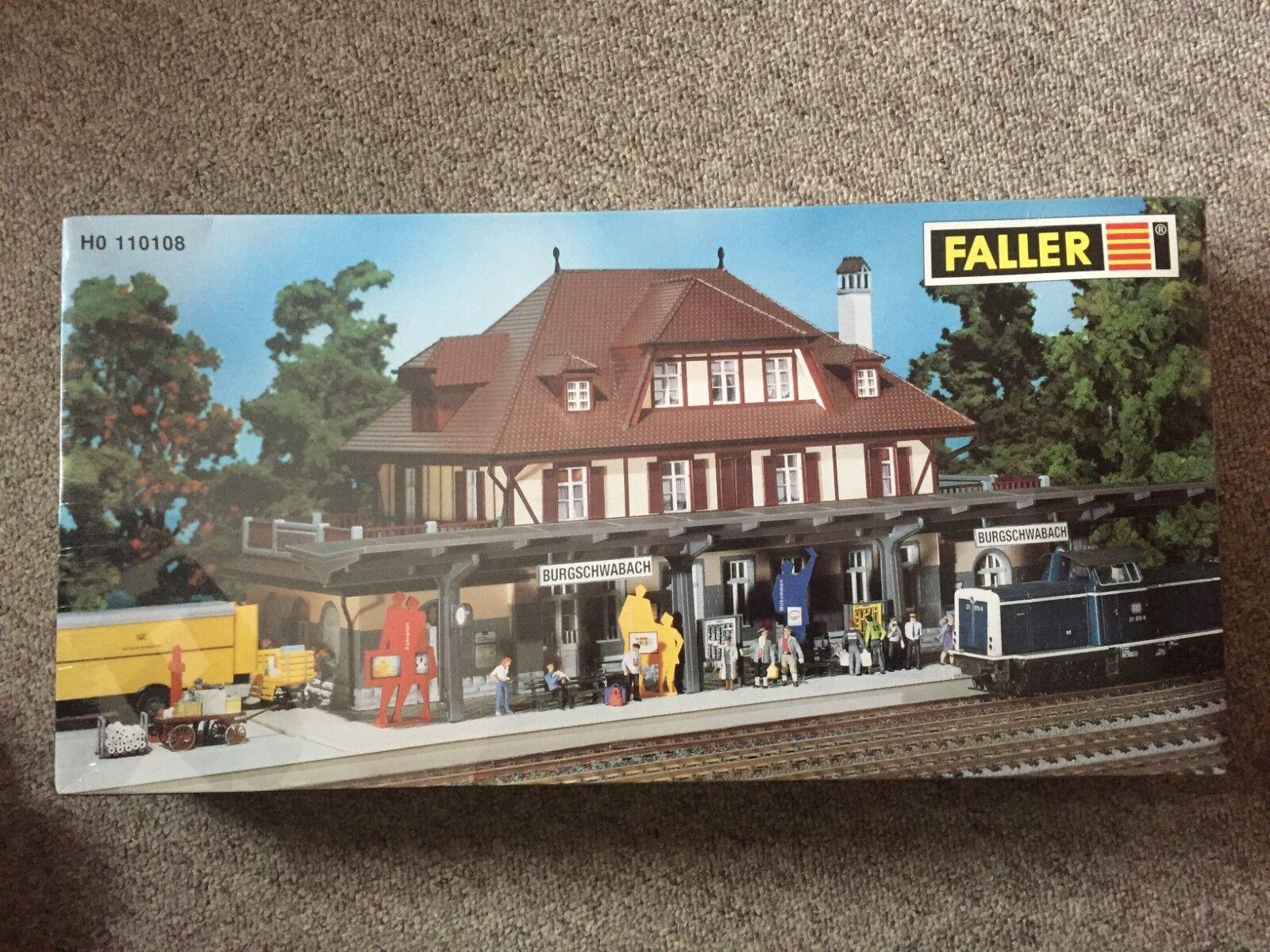 ahorra hasta un 30-50% de descuento 110108 Faller, kit la estación  burgschwabach    vemos, sin gastos de envío  el mejor servicio post-venta