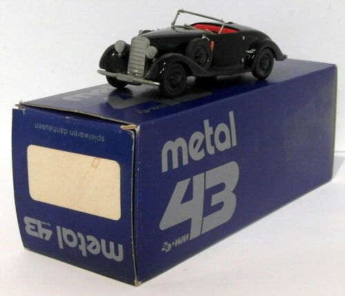 Metal 43 By Western Models 143 Scale 49 Mercedes Benz Conv Black
