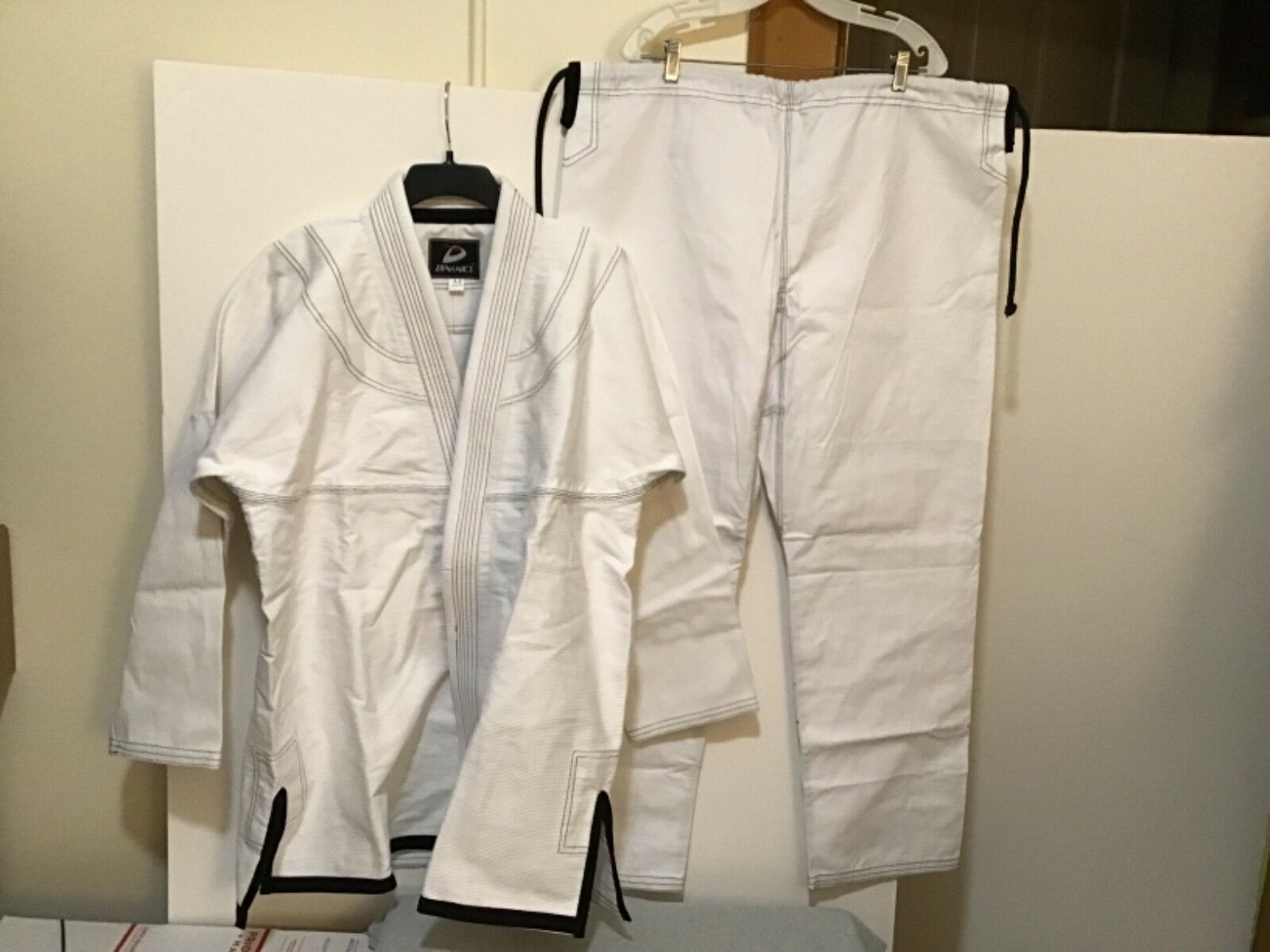 Dynamics White A-4 Martial Arts Uniform 100% Cotton Top & Pants NEW ( CB40-12)