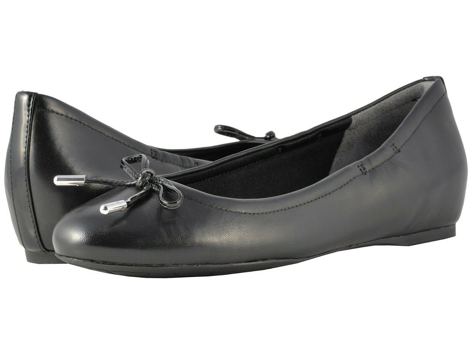 Rockport Total Motion Hidden Wedge Tied Ballet Flat, Black ( Size 10.5 Narrow )
