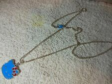 """Hello Kitty """""""" Blue / silver tone """""""" Necklace  &  Pendant ** Free Shipping"""