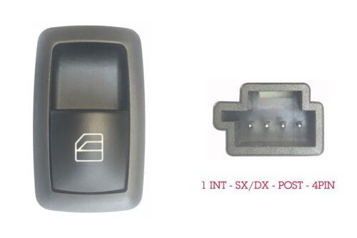 Dx Post.Sx=Dx 4pin Mercedes B T245 04//05/>04//13 Pulsante Alzacristalli Porta Ant