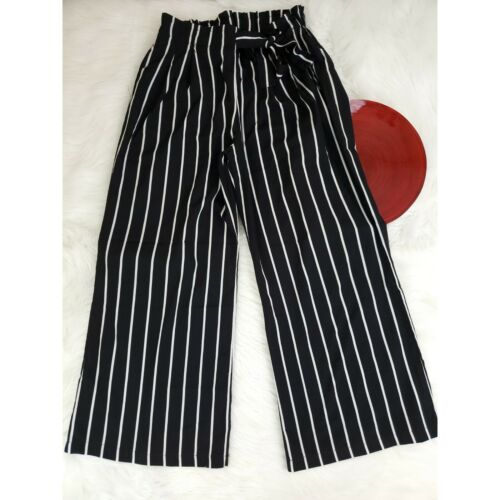 Breeze Ever Womens Gaucho Pants Size L Black White