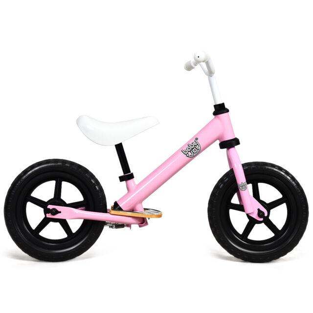 """12"""" Kids Balance Bike No Pedal Sport Training Bicycle w// Adjustable Seat Pink"""