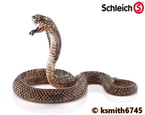 Schleich Cobra solide Jouet en plastique Pet Wild Zoo Animal Serpent Reptile NOUVEAU *