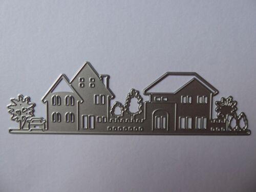 House /& Tree Scene Cutting Die Stencil,Villa,Craft,Card Making,Scrapbooking,New