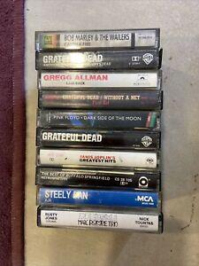Lot Of 10 Vintage Rock Cassette Tapes Grateful Dead,Pink Floyd, Marley,Mix Lot