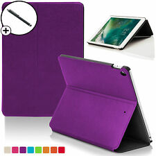 Purple Clam Shell Smart Case Cover Sleeve for Apple iPad 9.7 2017 A1822 Stylus
