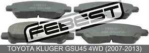 Pad-Kit-Disc-Brake-Rear-For-Toyota-Kluger-Gsu45-4Wd-2007-2013