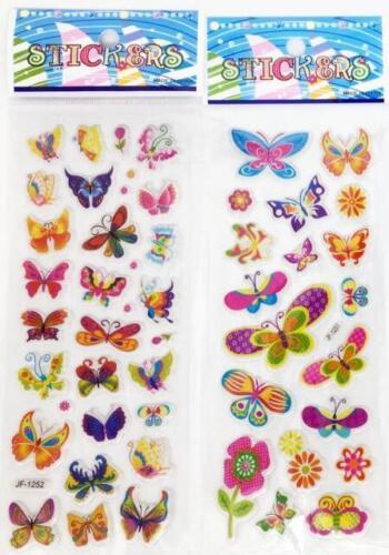 "3D PVC Foam Classic cartoon ""Colorful butterfly""kids favor Stickers 5 sheets//set"