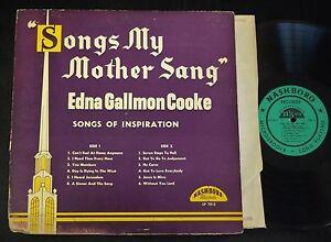 Details about BLACK GOSPEL LP Edna Gallmon Cooke Nashboro 7013 Songs My  Mother Sang