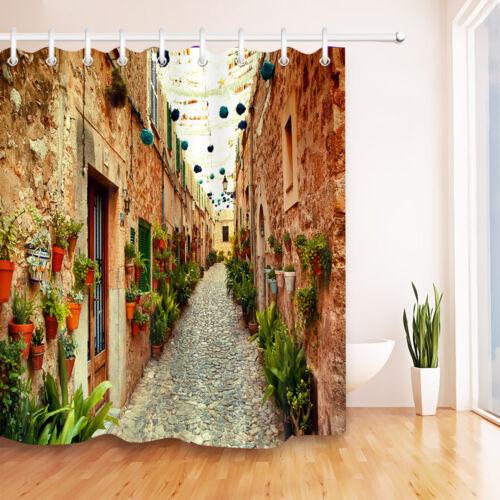 72x72/'/' Bathroom Waterproof Shower Curtain West Street in Valldemossa Village