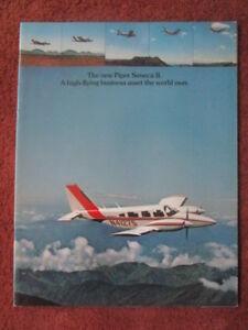 11-1974-BROCHURE-PUBLICITAIRE-PIPER-AIRCRAFT-SENECA-II-AVION-FLUGZEUG