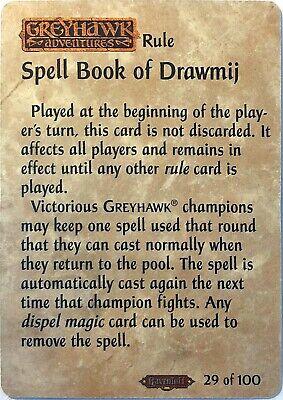 Spellfire Ravenloft Spell Book Of Drawmij 29//100