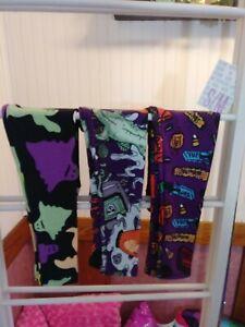 Lularoe-S-M-Halloween-Leggings-3-pairs-Ghost-and-More