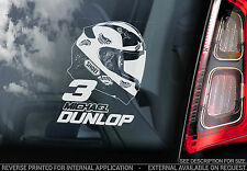 Michael Dunlop - Car Window Sticker - Isle of Man TT Helmet Motorbike Sign - V02
