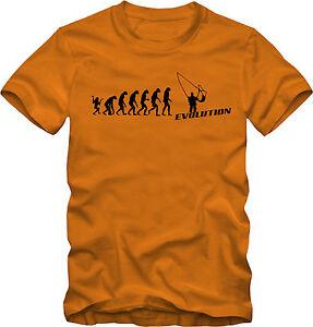 Evolution Angler T-Shirt in 2 verschiedenen Farben