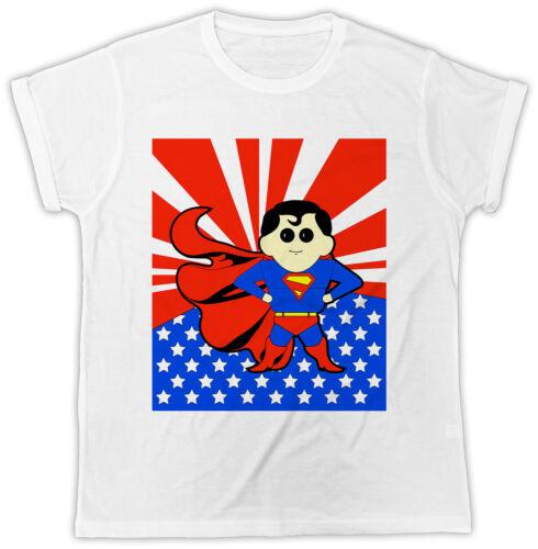 Superman Superboy designer Drôle Cool t shirt à manches courtes * été