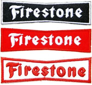 Patch-Iron-on-Firestone-Tires-Advertising-Car-Truck-Motorcycle-Racing-Sign-Badge