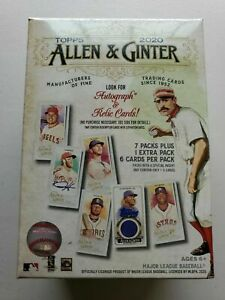 2020-Topps-Allen-and-Ginter-Baseball-One-Blaster-Box-New-and-Sealed