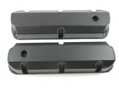 Ford 289//302//351 Fabricated Tall Alum Valve Covers Black Powdercoat BPE-2325BC