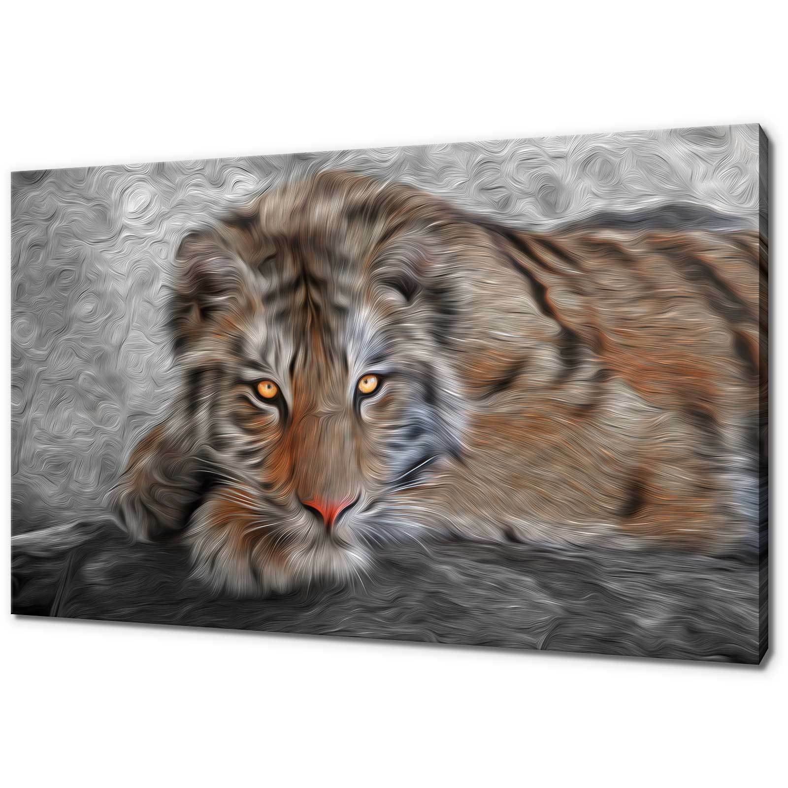 Tigre du Bengale Abstrait Toile Impression Photo Wall Art Home Decor livraison gratuite