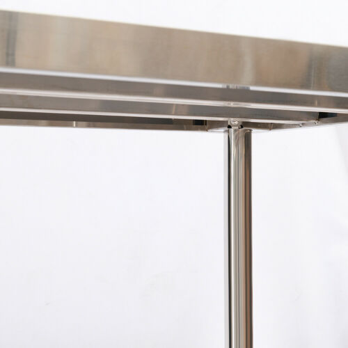 Catering Table Stainless Steel 5x2FT w// Backsplash Commercial Dining Work Bench