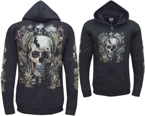 Biker Skull Dragon Snake Grim Reaper Glow In Dark Zip Zipped Hoodie Hoody Jacket