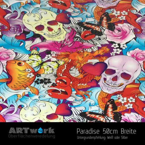 Wassertransferdruck Folie WTD Hydrographic Paradise 1m x 50cm Breite