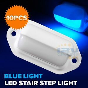 10 New Blue Led Courtesy Lights Rv Trailer Marine Boat