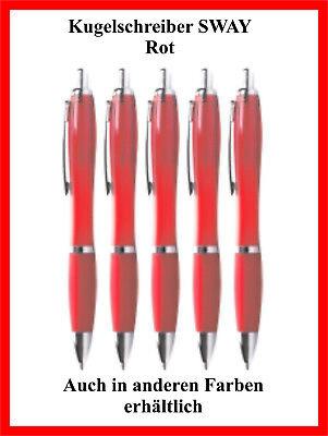 100 Stück Rote Kugelschreiber Swiay Bedruckt Mit Ihrem Wunschtext SchnäPpchenverkauf Zum Jahresende