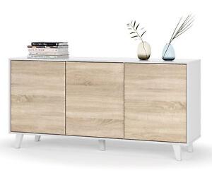 Aparador-buffet-3-puertas-estilo-nordico-blanco-y-roble-de-salon-comedor-154x75
