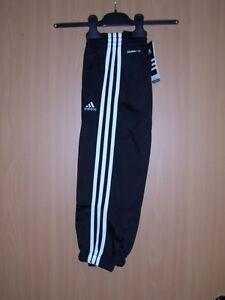 832913c6c6fd68 Das Bild wird geladen adidas-Kinder-Trainingshose-Sporthose -climalite-schwarz-92-104-