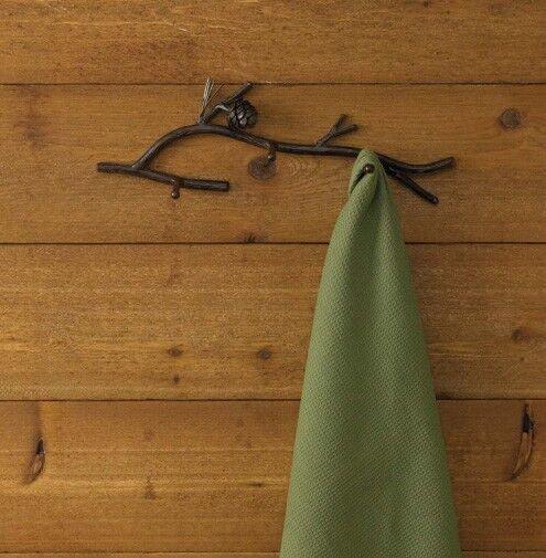 Rustic Brown Pine Lodge Triple Wall Hook by Park Designs - Three Arm Hook