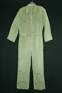 VERY-RARE-COLLECTABLE-VINTAGE-1930-039-S-1940-039-S-WOOL-GAB-WWII-ERA-FLYING-SUIT-SZ-MED