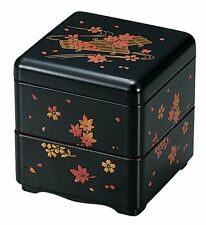 HAKOYA Lunch Bento Box 06040 Mini Nest of Boxes Black Flower Raft MADE IN JAPAN
