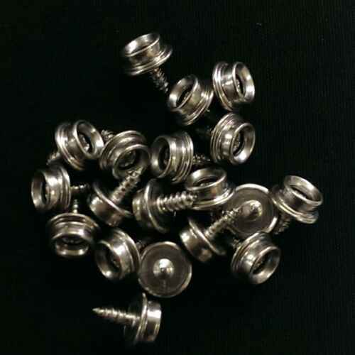 "Covers 20 3//8/"" ALL Stainless Steel Screw Snap Studs Marine-Truck Auto Boat"