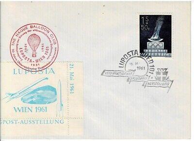 Sonderstempel Balloon Club Briefmarken Kraftvoll Österreich Sonderbrief Luftposta Wien Mit Vignetten
