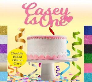 Personalizzata-1st-Compleanno-Glitter-Cake-Topper-Qualsiasi-Nome-Eta-Festa-Di-Compleanno