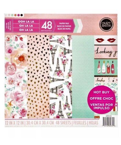 """CRAFT SMITH Scrapbook Paper Pad OOH LA LA Paris """"Looking Good"""" 48 Sheets 12/""""x12/"""""""