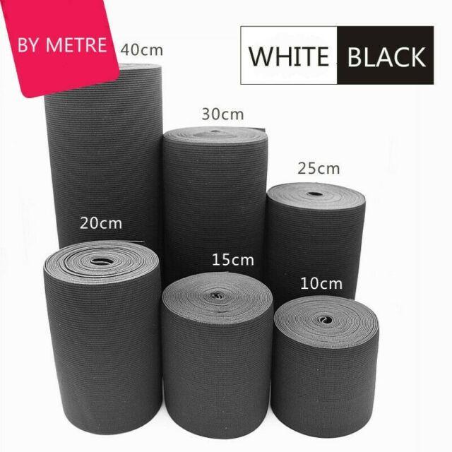 1.5mm Rund Weiß Schwarz Elastisches Gummi Stoßdämpfer Saiten Stretch Band 100 M