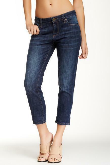 Kut US Size 20 Dark Wash Jeans BARDOT Skinny Boyfriend Style 5