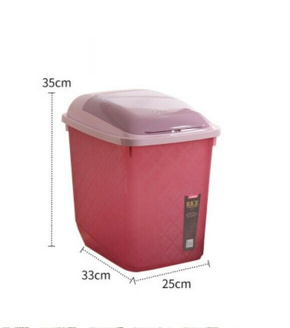 D65 20KG Kitchen Rice Storage Bin Flour Cereal Bean Grain Box Container Case Q