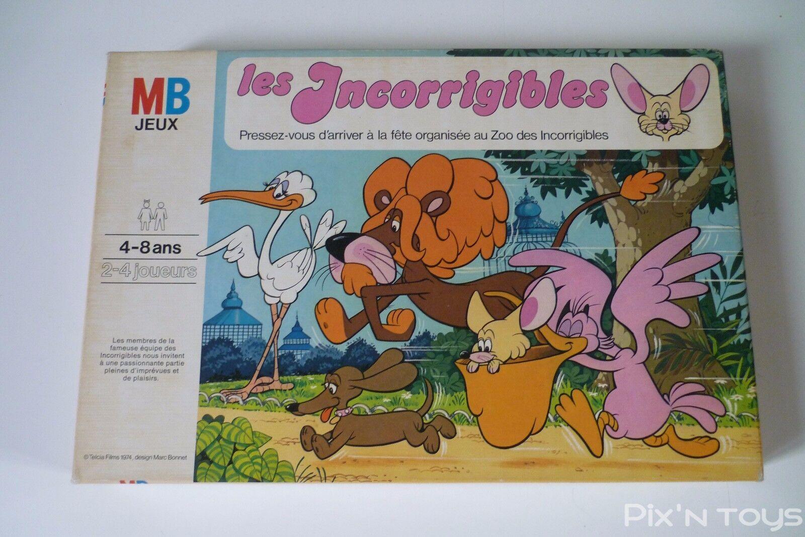 Les Incorrigibles / Jeu de société MB 1975 Version Française.