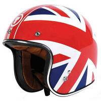 Torc T50 Union Jack Open Face Motorcycle Helmet White
