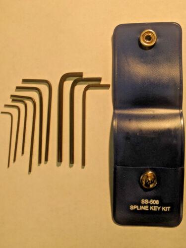 Bristol SS-508 Spline Wrench Set for Narco Radio and other Avionics Setscrews