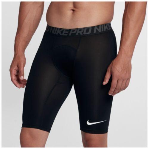 """Nike Pro 9/"""" Compression Long Shorts Black//Grey Dri Fit Workout Gym Men/'s"""