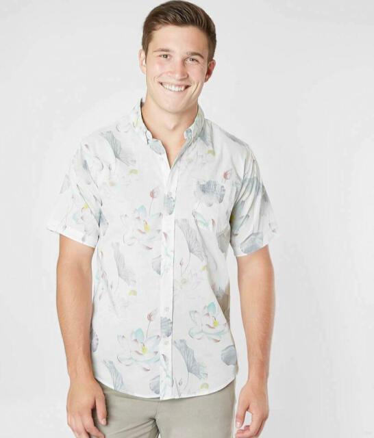NEW Men/'s Button down WHITE SHORT SLEEVE shirt SZ S,ML,XL,XXL