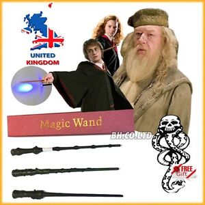 NEW-edition-HARRY-POTTER-LED-light-up-magic-WAND-Free-Tattoo