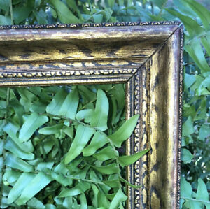 Vintage-Gilded-Wood-Picture-Frame-Art-Painting-Frame-Carved-32-5-034-x18-75-034